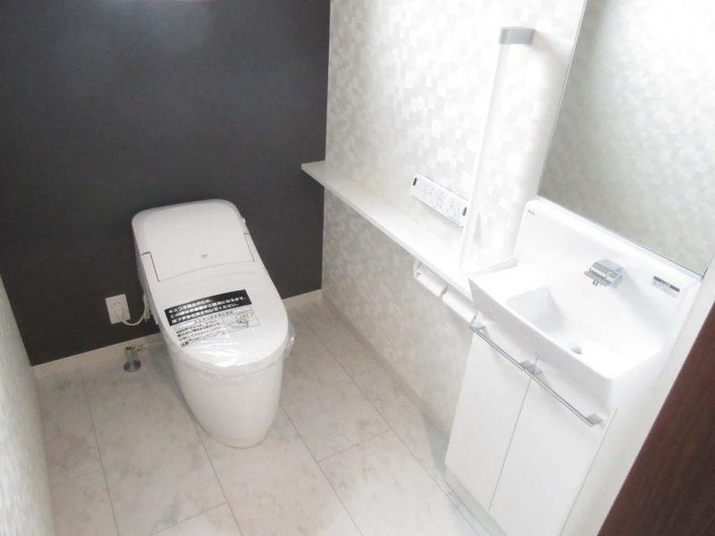 広々手洗いカウンター付きトイレ