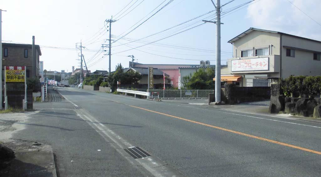 前面道路、国道208号線です(周辺)